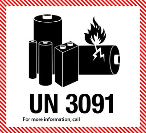 Lithiumbatteri UN 3091